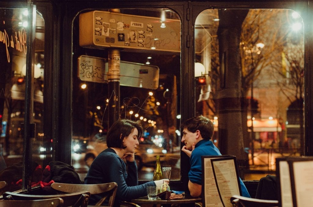 A photo of a couple on a date in New York City