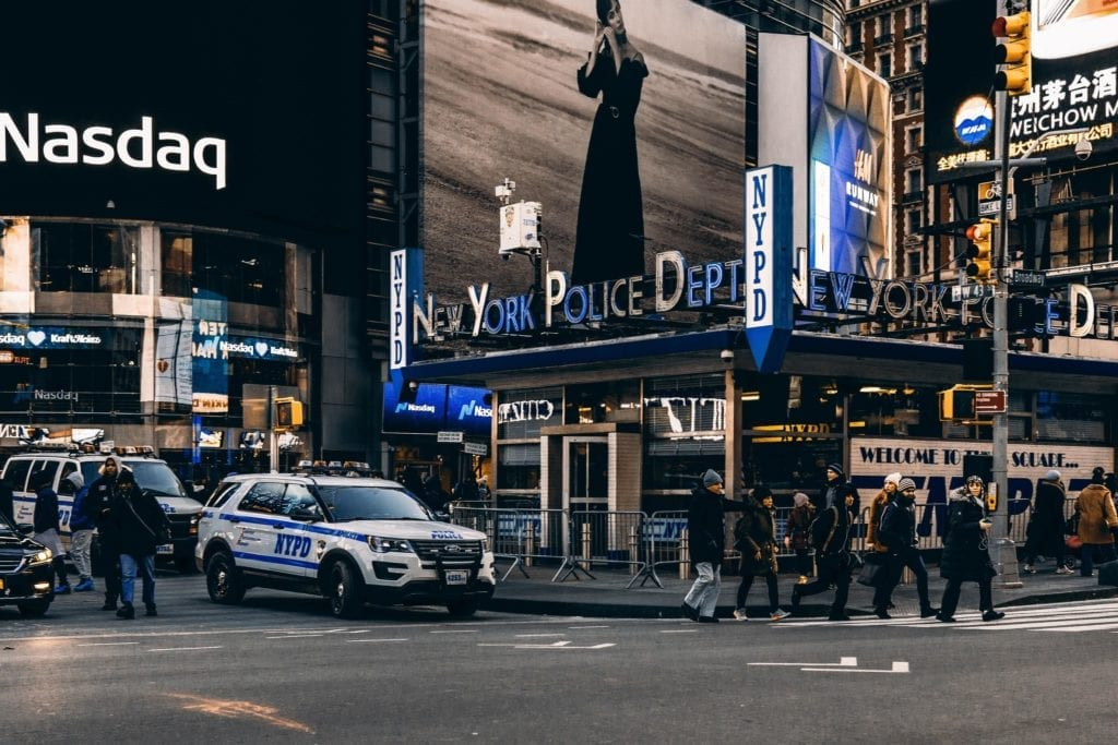 A photo of one of the police precint in New York City